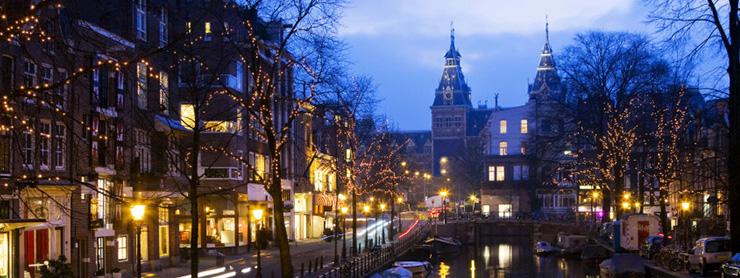 Amsterdam şehir manzarası