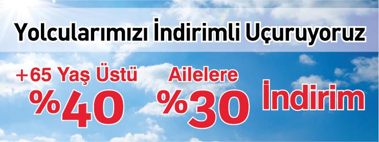 AnadoluJet Aile 65 Yaş Uçak Bileti Kampanyası