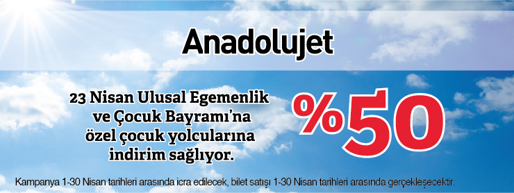 AnadoluJet Çocuk Kampanyası