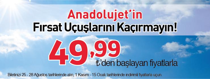 AnadoluJet Yurtiçi Uçak Bileti Kampanyası