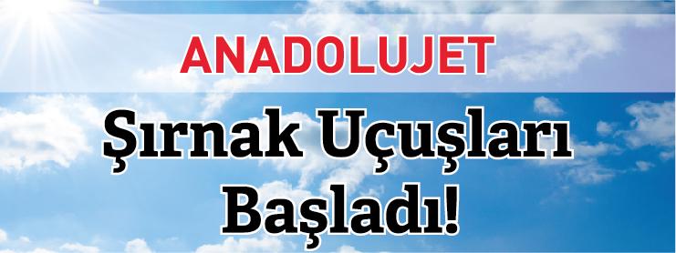 AnadoluJet Ankara Şırnak Uçak Bileti Kampanyası