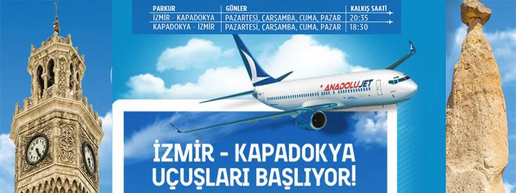 AnadoluJet ile Nevşehir'den İzmir'e Direkt Uçuş