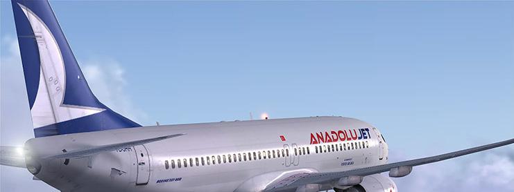 AnadoluJet uçak gökyüzünde
