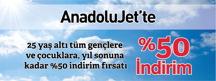 AnadoluJet Çocuklara Yüzde 50 İndirimli Uçak Bileti Kampanyası