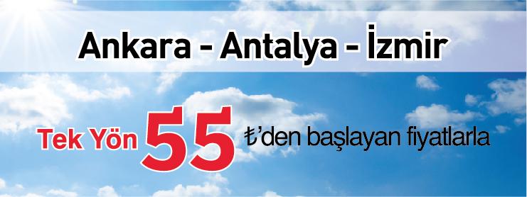 THY Antalya İzmir Ankara uçak bileti kampanyası