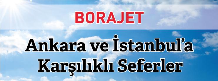 Borajet İstanbul Edremit Ankara uçak bileti kampanyası