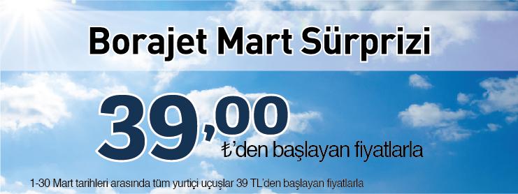 Borajet yurtiçi uçak bileti kampanyası
