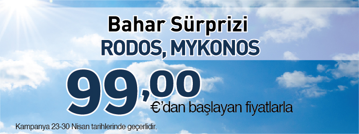 Borajet Rodos Mykanos uçak bileti kampanyası
