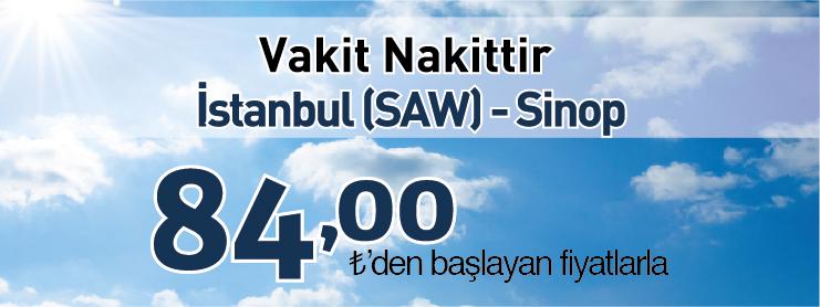 Borajet Sinop uçak bileti kampanyası