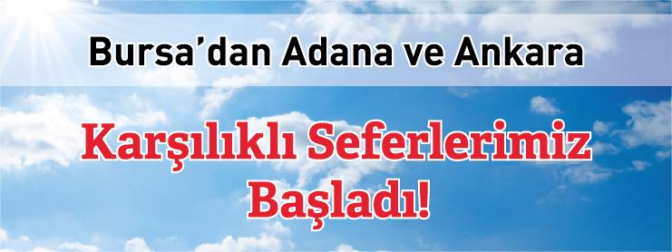 Borajet Bursa Adana Ankara uçak bileti kampanyası