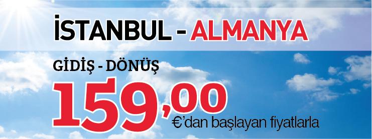 THY İstanbul Almanya uçak bileti kampanyası