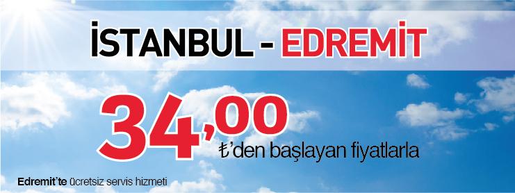 Borajet İstanbul Edremit uçak bileti kampanyası