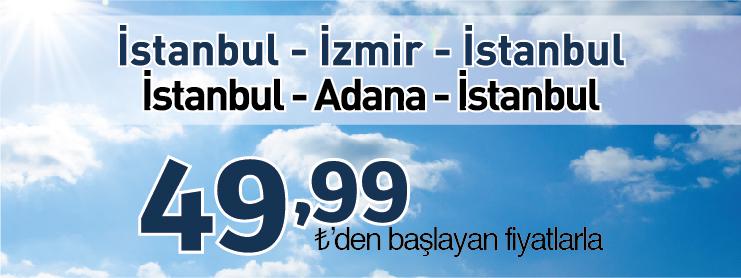 Borajet İstanbul İzmir Adana uçak bileti kampanyası