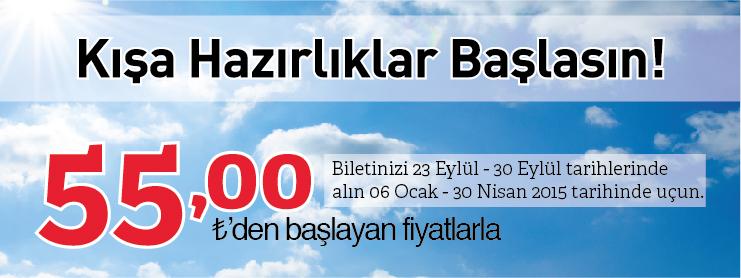 THY kışa hazırlık yurtiçi uçak bileti kampanyası