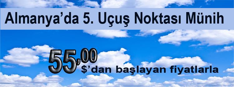 Onur Air ile Münih 55 Dolar!