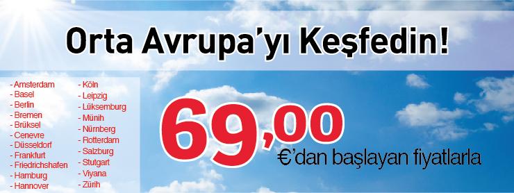 THY Orta Avrupa uçak bileti kampanyası