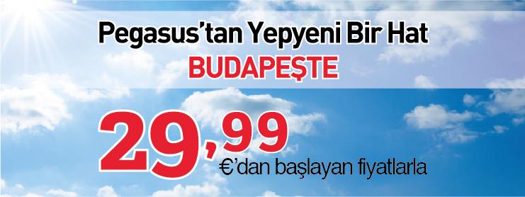 Pegasus Budapeşte yurtdışı uçak bileti kampanyası