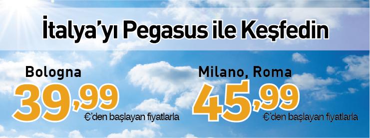 Pegasus İtalya uçak bileti kampanyası