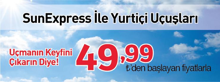 Sunexpress yurtiçi uçak bileti kampanyası