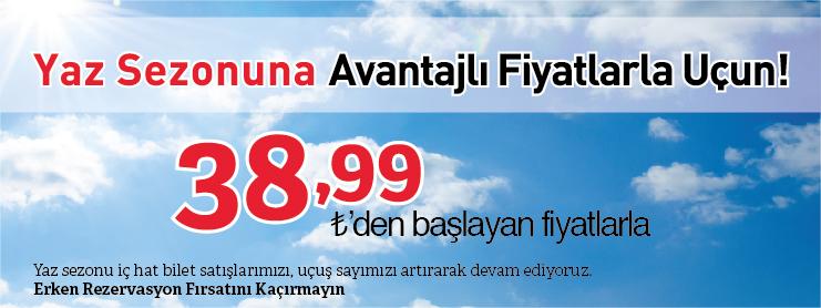 Sunexpress erken rezervasyon uçak bileti kampanyası