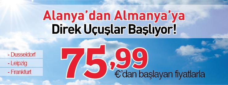 Sunexpress almanya direkt uçuş kampanyası