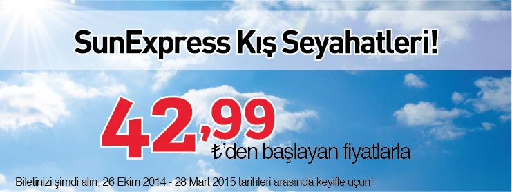 Sunexpress kış uçak bileti kampanyası