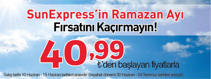 Sunexpress ramazan uçak bileti kampanyası