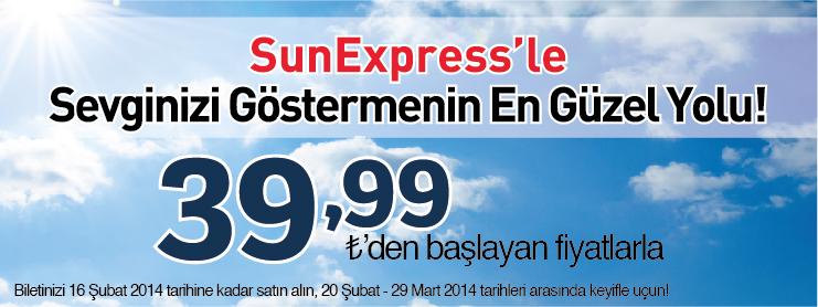 Sunexpress sevgililer günü uçak bileti kampanyası