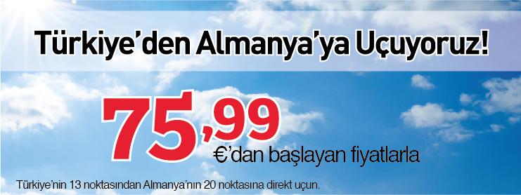 Sunexpress Almanya Avrupa uçak bileti kampanyası