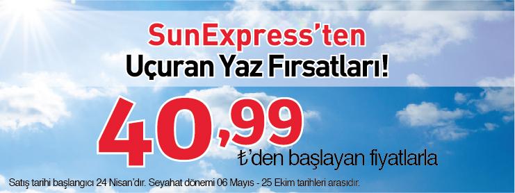 Sunexpress uçaak bileti yaz kampanyası