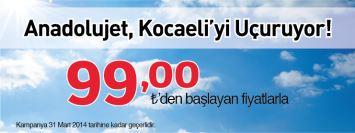 AnadoluJet Kocaeli Uçak Bileti