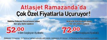 Atlasjet Sabiha Gökçen Kalkışlı Uçak Bileti Kampanyası