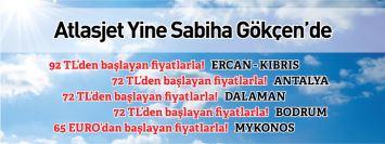 Atlasjet Sabiha Gökçen kalkışlı uçak seferleri