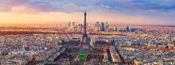 Gökyüzünden Paris manzarası