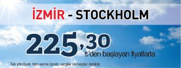Sunexpress İzmir Stockholm uçak bileti kampanyası