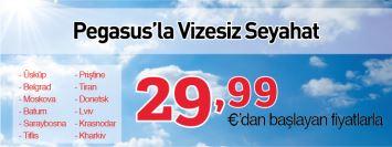 Pegasus vizesiz şehirlere uçak bileti kampanyası