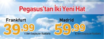 Pegasus Madrid Frankfurt Uçak Bileti