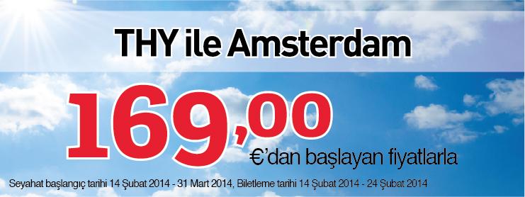 THY Amsterdam uçak bileti kampanyası