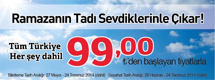 THY ramazan yurtiçi uçak bileti kampanyası