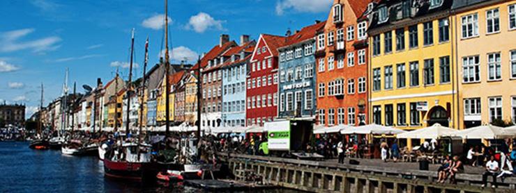 Danimarka liman ve evler