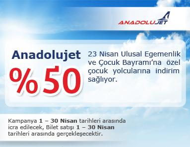 anadolu jet 23 nisan uçak bileti kampanyası