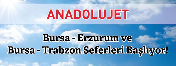 AnadoluJet Bursa Erzurum Uçak Bileti Kampanyası