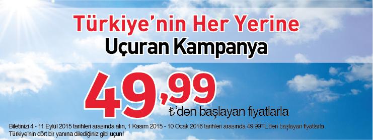 AnadoluJet Her Yöne Kampanya