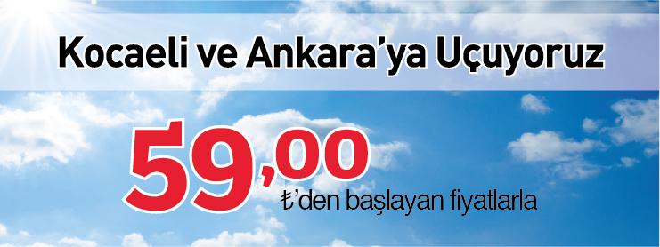 AnadoluJet Kocaeli Ankara uçak bileti