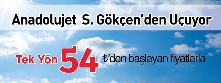 AnadoluJet Sabiha Gökçen Kalkışlı Uçak Bileti Kampanyası