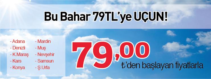 THY Yurtiçi Uçak Bileti Bahar Kampanyası