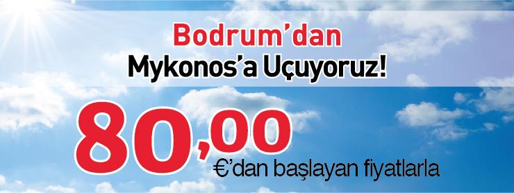 Borajet Bodrum Mykanos uçak bileti kampanyası