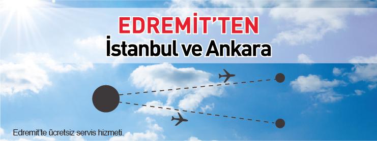 Borajet İstanbul Edremit Ankara ücretsiz servis