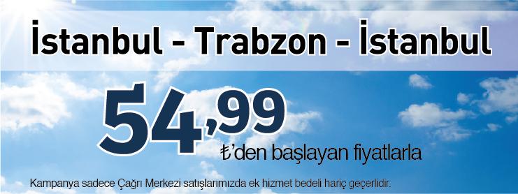 Borajet İstanbul Trabzon uçak bileti kampanyası