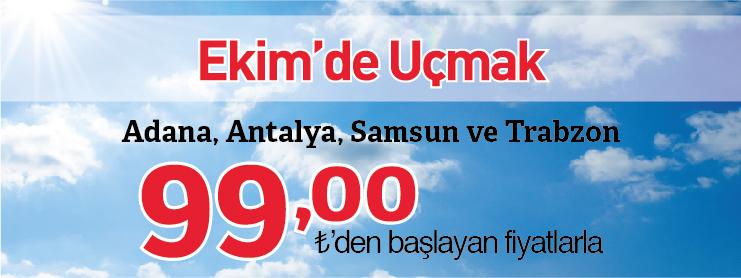 THY ekim ayı yurtiçi uçak bileti kampanyası